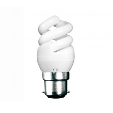 5W (25W) Bayonet Extra Mini CFL Spiral Light Bulb Warm White