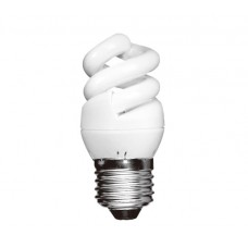 5W (25W) Edison Screw Extra Mini CFL Spiral (Cool White)