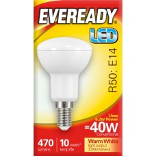 6.2W (40W) LED R50 Small Edison Screw Reflector Light Bulb Warm White