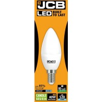 6W (40W) LED Candle Small Edison Screw Light Bulb in Daylight 6500K by JCB