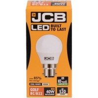 6W (40W) LED Golf Ball Bayonet Light Bulb in Cool White 4000K