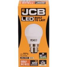 6W (40W) LED Golf Ball Bayonet Light Bulb in Cool White 4000K