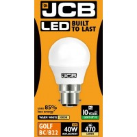 6W (40W) LED Golf Ball Bayonet Light Bulb in Warm White