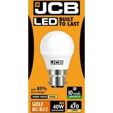 6W (40W) LED Golf Ball Bayonet Light Bulb in Warm White