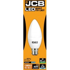 6W (40W) LED Candle Bayonet Light Bulb in Daylight White