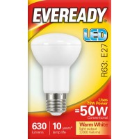 7.8W (50W) LED R63 Edison Screw Reflector Warm White