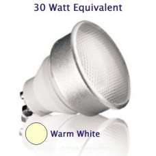 7W (30W) GU10 Low Energy Spotlight - Warm White