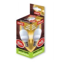 7w (35-40W) Bayonet / BC Golf Ball Light Bulb Warm White