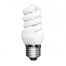7w (40w) Edison Screw Extra Mini Low Energy Spiral (Daylight)