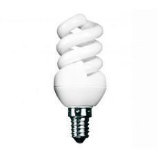 7w (40w) Small Edison Screw Extra Mini Low Energy Spiral (Warm White)