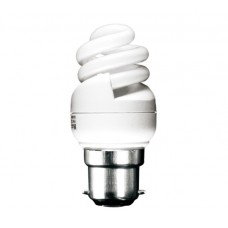 8w (40w) Bayonet Ultra Mini Low Energy Light Bulb (Cool White)