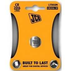 CR2016 3V Button Battery by JCB - Lithium Coin Cell