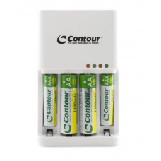 Contour 2 Hour Rapid Battery Charger with 2 x AA & 2 x AAA