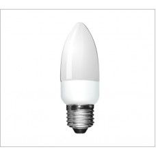 Dimmable 6w (30w Equiv) Edison Screw Low Energy CFL Candle Light Bulb