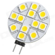 G4 12V 12 LED Circular Disc Shape Light Bulb in Daylight White