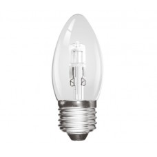 Halogen 42W (60W Equiv) Edison Screw ES Candle Light Bulb