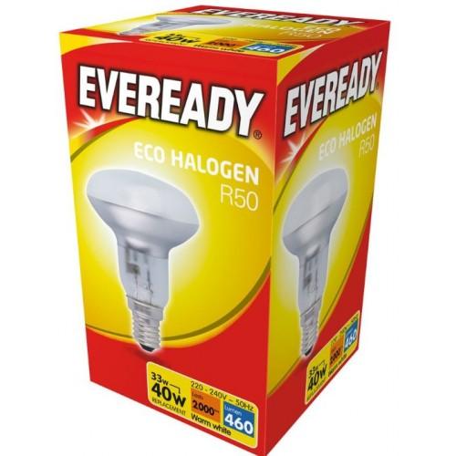 Long Life Lamp Company E14 Edison SES R50 Reflector Halogen Energy Saving 28 40