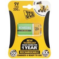 JCB 9V PP3 NiMH 200mAh Rechargeable Battery
