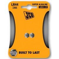 LR44 1.5V (2 Pack) Button Battery by JCB - (Super Alkaline Coin Cell)