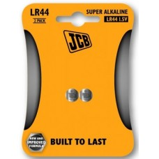LR44 1.5V (2 Pack) Button Battery by JCB - (Super Alkaline Coin Cell)