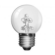 Red 9 LED 1W (5 Watt) Edison Screw Low Energy Small Golf Ball Light Bulbs