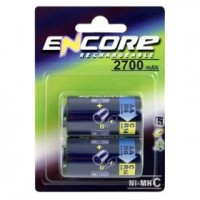 Uniross Encore Power EN0289 C / R14 Size Converters with AA NiMH 2700mAh Pack of 2
