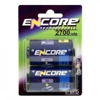 Uniross Encore Power EN0290 D / R20 Size Converters with AA NiMH 2700mAh Pack of 2