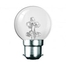 White 9 LED 1W (5 Watt) Bayonet Low Energy Saving Small Golf Ball Light Bulb
