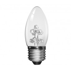 White 9 LED 1W (5 Watt) Edison Screw Low Energy Small Candle Light Bulbs
