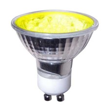 Yellow - 1.8W LED GU10 Low Energy Spotlight (Yellow LIght)