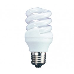11w (60w) Edison Screw Low Energy CFL Light Bulb - Cool White (Quick Start)