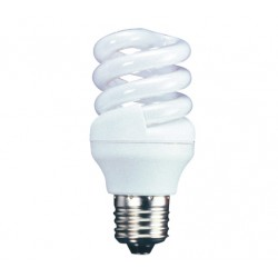 15w (75w) Edison Screw Low Energy Spiral - Daylight (Quick Start)