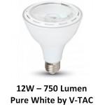12W (60 Watt) LED PAR30 Edison Screw Reflector Spotlight - Daylight White 6000K