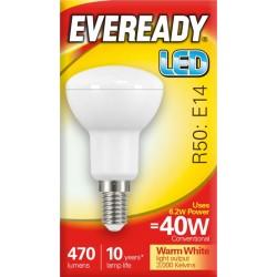 6.2W (40 Watt) LED R50 Small Edison Screw Reflector Spotlight (Warm White)