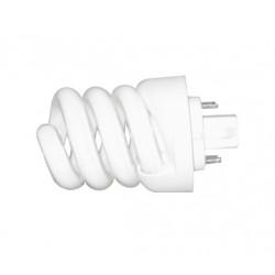 18W 4-Pin GX24q-2 Spiral CFL Light Bulb - Warm White 827