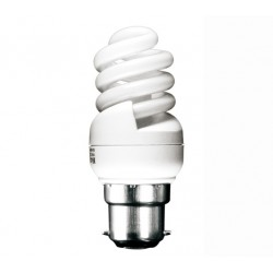 11w (60w) Bayonet Ultra Mini Low Energy Light Bulb (Cool White)